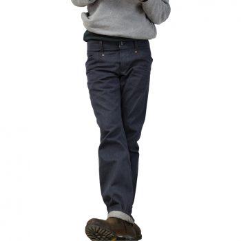 INDNAT iSar_Denim Jeans aus 50% Bio-Baumwolle kbA - 50% Recycelte Baumwolle (Stoff gewoben von Manufacture Metis in Frankreich)