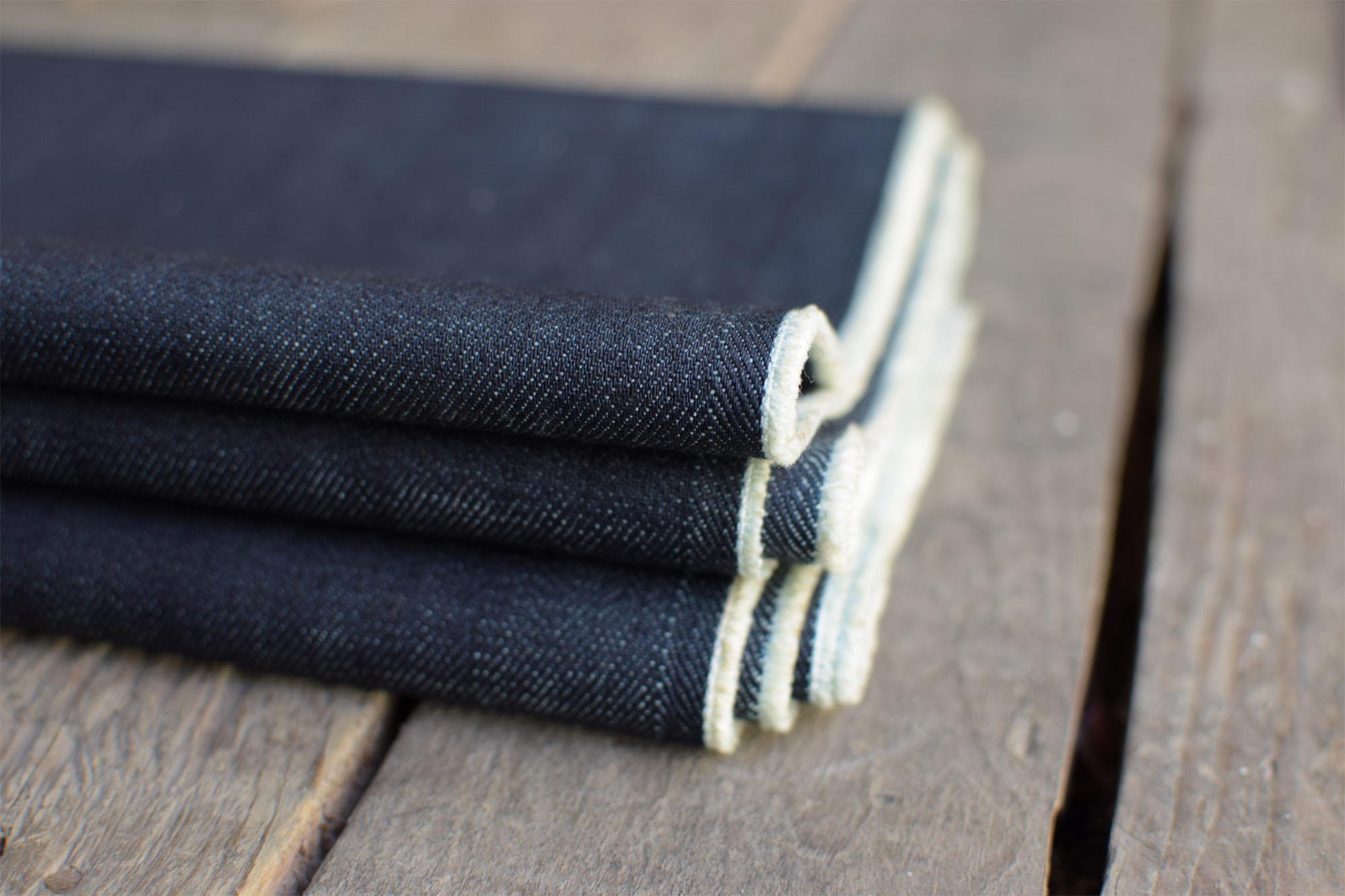 bio denim, bio jeans, raw denim, recycled cotton, recycelte baumwolle, hanf denim, hanfjeans, lodenjeans, 12, 14, oz, nach mass, indigo, fade