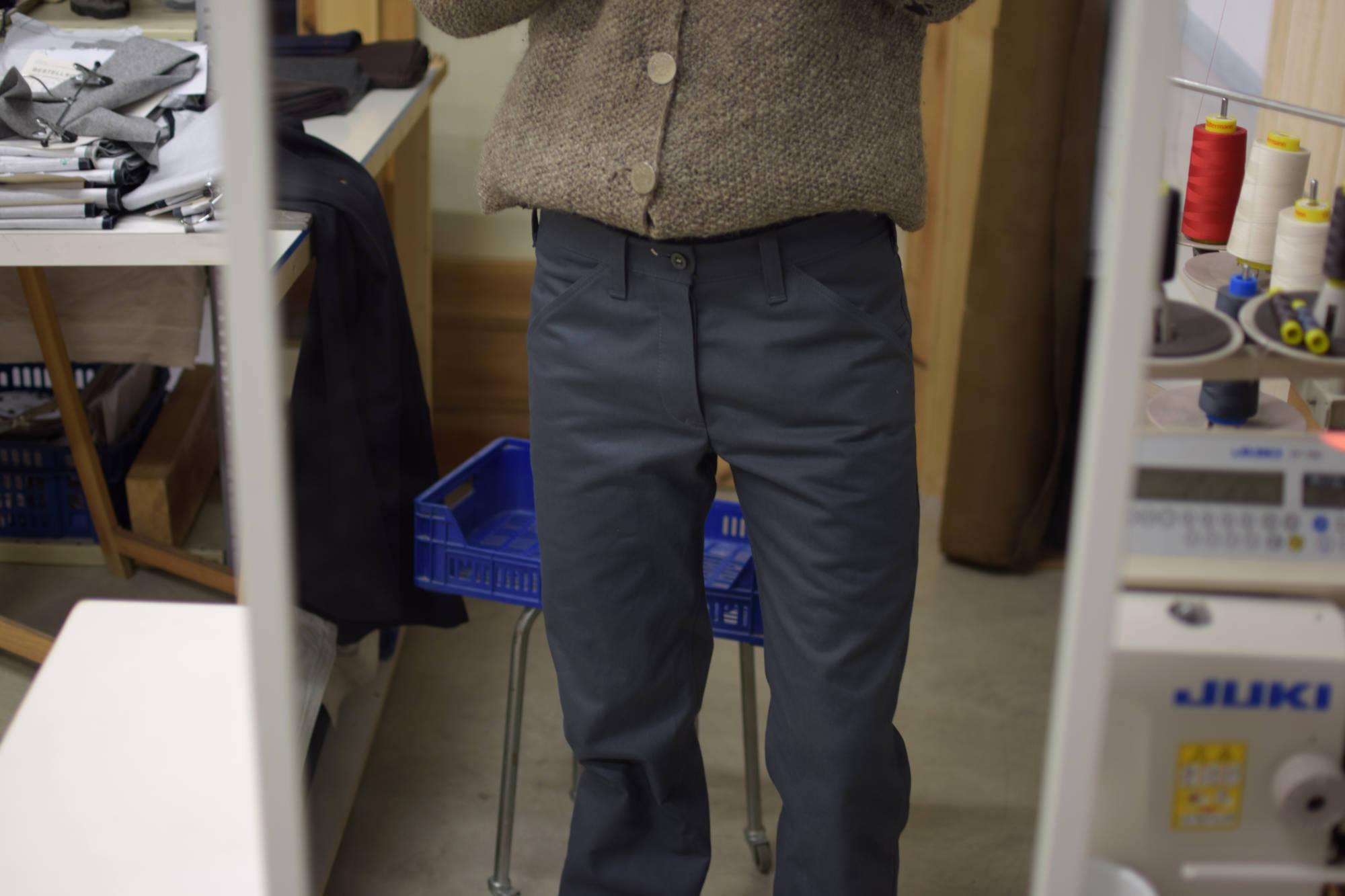 Robuste graue Hose in Ripsmoleskin aus Biobaumwolle