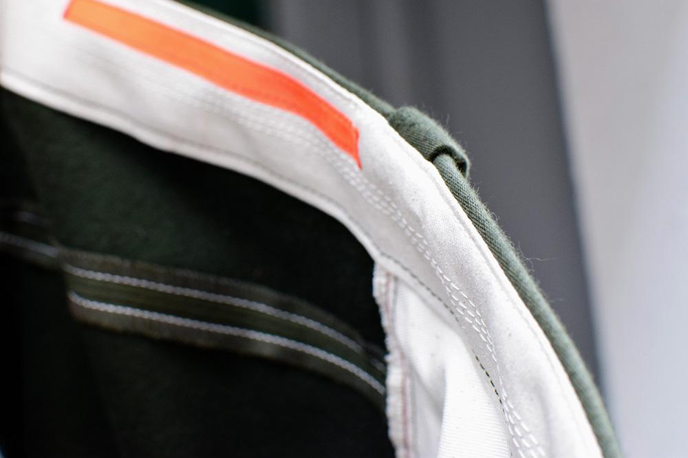 Innenverarbeitung der Hose aus ungefärbter Biobaumwolle