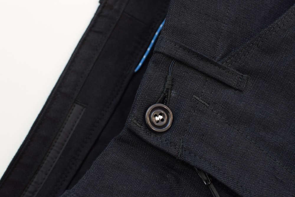 Kurze Hose / Short aus Mühlviertler Leinen in Schwarz