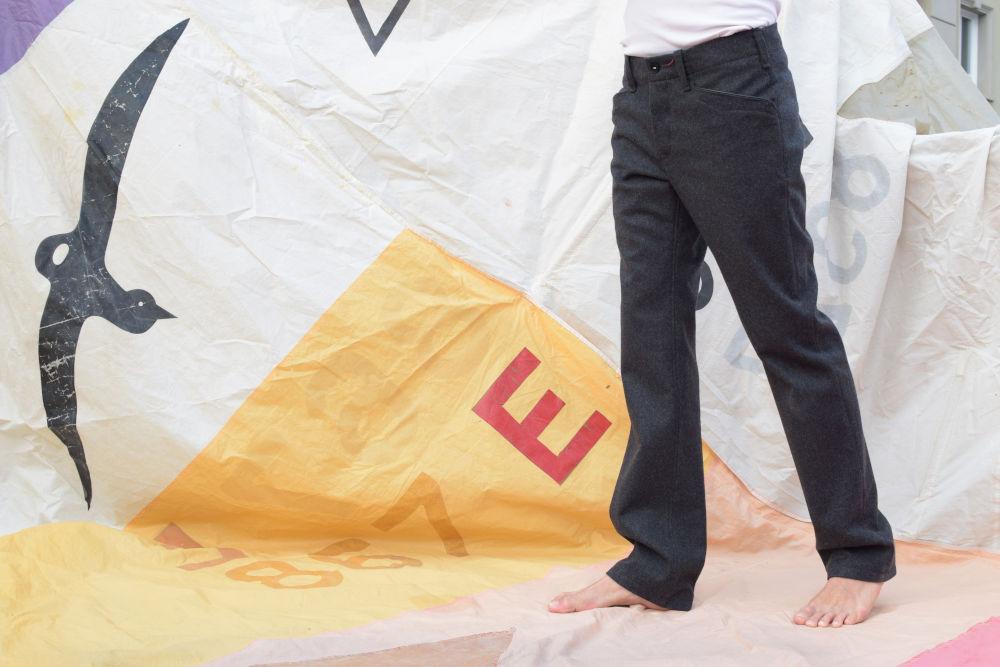 Graue Lodenhose aus Schladminger Loden von INDNAT, Lodenhosen, gute, Passform, Form