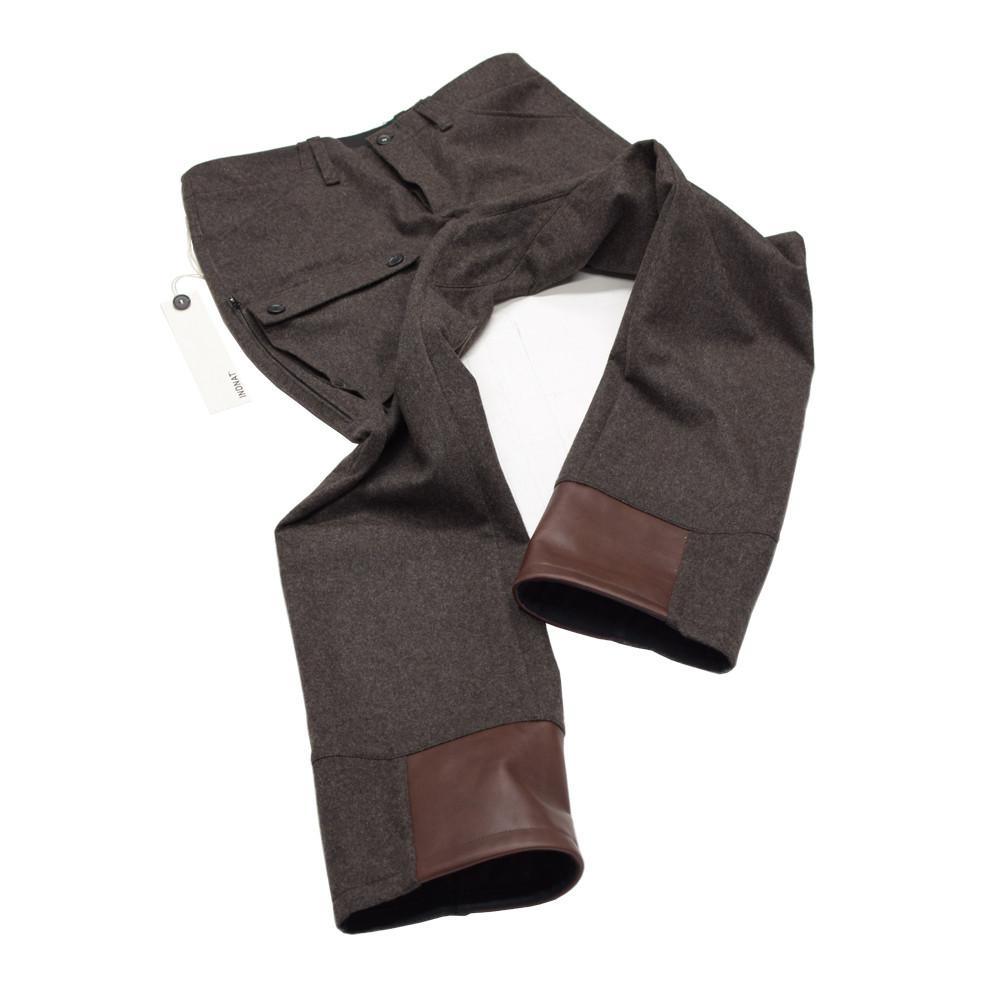 Sonderanfertigung einer Lodenhose von INDNAT für einen Schäfer in der Schweiz, grosse, Taschen, Belüftungs, Zipper, Reissverschlüsse, -, Lederbesatz, Custom, Made