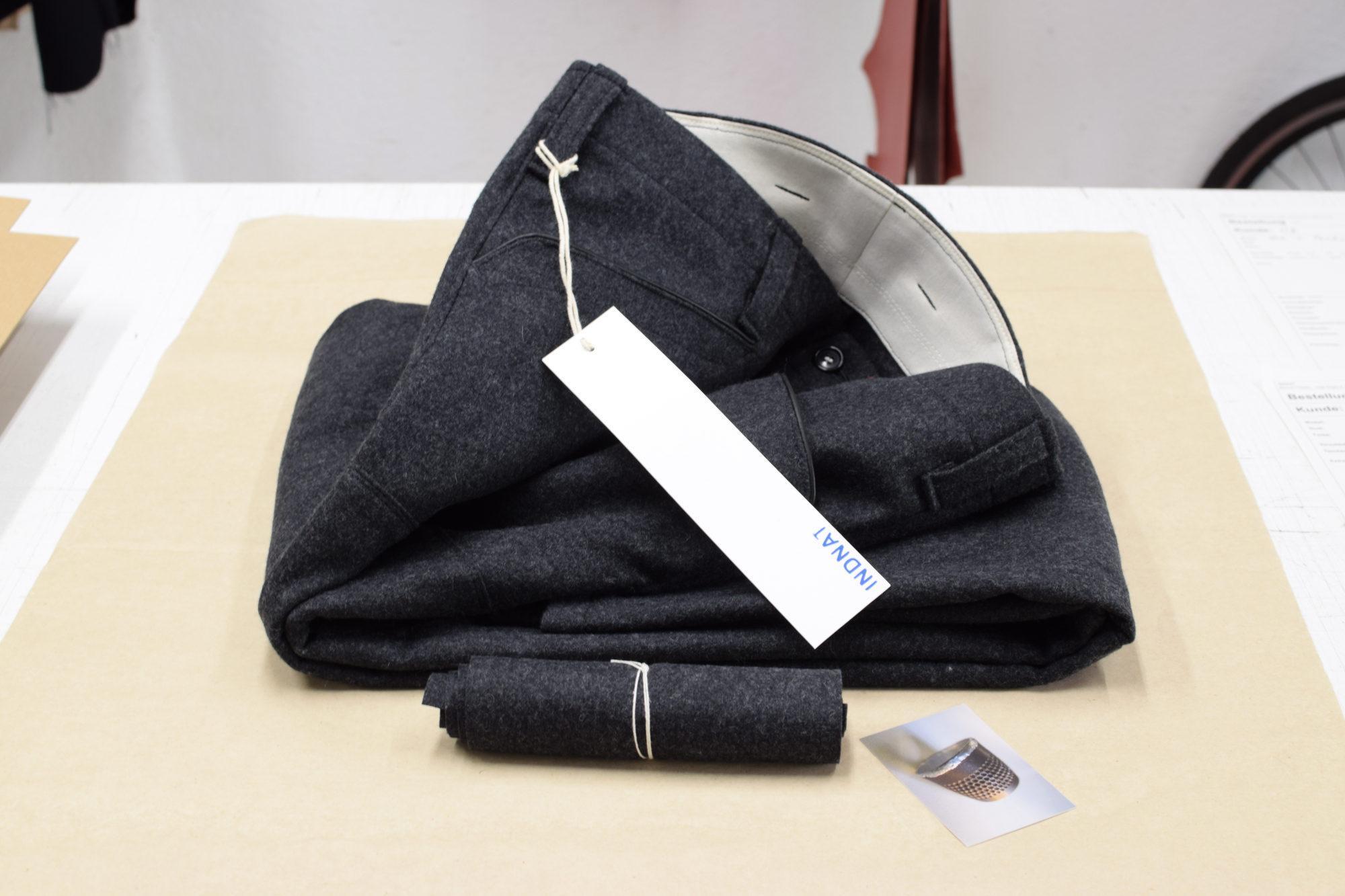 Lodenhose mit grossen Vordertaschen, Zimmermannshose, Zimmermann, Leder, Lederbesatz